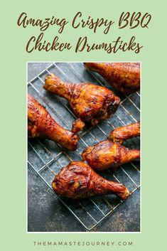 Amazing Crispy BBQ Chicken Drumsticks in The Oven. Bbq Chicken Drumsticks, Chicken Wings, Baked Barbeque Chicken, Baked Chicken, Sweet Baby Ray, Bbq Wings, Drumstick Recipes, Chicken Skin
