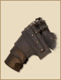 LARP Leather Armor - Albrecht Large Shoulders - TheVikingStore.co.uk