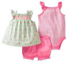 Carter's 3-piece Mint & Pink Strawberry Bodysuit, Top, & Shorts Set (Newborn) Carter's http://www.amazon.com/dp/B00H7PANXU/ref=cm_sw_r_pi_dp_9VM6tb1XDA8YM
