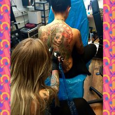 Finishing one of my very earlier pieces from when I've started tattooing :) @lusy_skaya <3 #cholo #ogwholelife #blingblingswag #ink