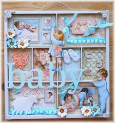Vintage Style Shadow Box for Nursery  Baby Boy by Lotsofbubbles4me, $39.99