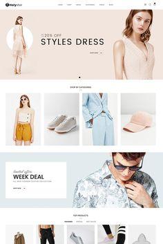 Holyster - Fashion WooCommerce Theme, #Fashion, #Holyster, #Theme, #WooCommerce Website Design Layout, Web Layout, Website Design Inspiration, Layout Design, Ad Fashion, Fashion Sites, Minimal Fashion, Fashion Graphic, Ecommerce Webdesign