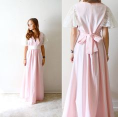 50 OFF SALE Vintage maxi pink boho wedding/ by BeigeVintageCo, $38.00 Boho Wedding Dress, Wedding Party Dresses, Boho Dress, Bridesmaid Dresses, Wedding Attire For Women, Pink Maxi, Lace Dress With Sleeves, Maxi Gowns, Gowns Of Elegance