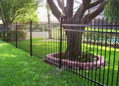 Style options for aluminum fencing are endless! Plus, with Mossy Oak Fence, you can custom design any aluminum fence style you'd like. If you can dream it, we can build it! View our aluminum fence pictures below and ask us about the many customization options we offer. We look forward to hearing about your project! Brick Fence, Front Yard Fence, Farm Fence, Cedar Fence, Pool Fence, Backyard Fences, Fenced In Yard, Rustic Fence, Concrete Fence