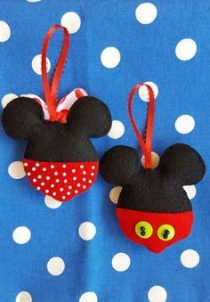 Mickey and Minnie Mouse felt by DebsArtsyEnchantment on Etsy