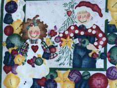 HTF Daisy Kingdom Christmas Fabric Raggedy Fabric 27 Squares  | eBay