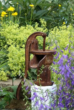 don't you love rust in the garden... almost doesn't matter what it even is.. it almost always works...