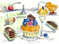 Yummy drawing! Gastrophoria » Blog Archive » Case of the Tasties : Paris Dreams