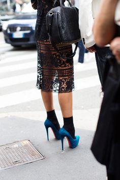Blue shoes - sartorialist