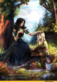 Ciri and Yennefer The Witcher 3 Wild Hunt / Gwent Card.