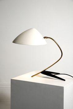 DESK LAMP Boris Lacroix or Louis Kalff 1950s