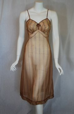 """1950s Gotham Gold """"mink"""" Nightgown (coming soon to Etsy!)"""