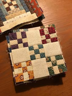 This particular custom quilts is an unquestionably inspirational and good idea Quilt Block Patterns, Pattern Blocks, Quilt Blocks, Primitive Quilts, 9 Patch Quilt, Scrappy Quilts, Mini Quilts, Colchas Country, Country Quilts