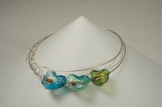 """Award for Excellence in Fine Craft: """"Echo"""" by Mary Lynn Podiluk -- 2013; Sterling silver, pearls, dyed resin, thread; inlaid, dyed, cast, and formed resin; cast, rolled, drawn, formed, and fabricated silver; 21.3 x 17.5 x 2.3; Value: $950; For Sale. Hand Craft Work, Silver Pearls, Turquoise Necklace, Resin, Mary, Sterling Silver, Crafts, Jewelry, Manualidades"""