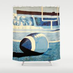 Monochromatic Football Shower Curtain by Rachel Winkelman - $68.00