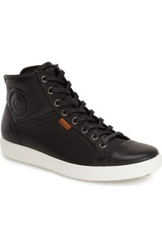 ECCO 'Soft 7' High Top Sneaker (Women) available at #Nordstrom