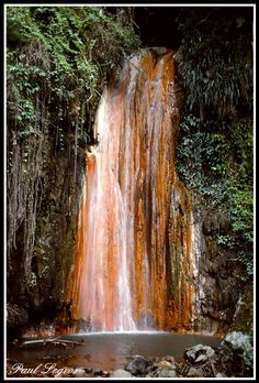 This photo from Soufriere, South is titled 'Diamond Falls'. Natural Architecture, Central America, Nature Pictures, Water Features, Beautiful World, Natural Beauty, Saint Lucia, Vacation, Waterfalls