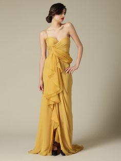 J.Mendel  Silk Draped Bodice Gown  $1,299