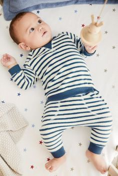 Bottoms Baby Boy Joggers Trousers Next 6-9 Months Blue Grey White Striped Happy Face Pleasant To The Palate Baby & Toddler Clothing