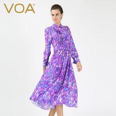 Encontrar Más Vestidos Información acerca de VOA 2016 otoño nuevo temperamento vestido de seda femenina delgada delgada vestidos A6515, alta calidad vestidos de italia, China semental vestido Proveedores, barato vestido español de VOA Flagship Shop en Aliexpress.com