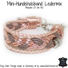 Mini-Halsband Leder Mix in Puderfarben - Carola Trained Dogs For Sale, Dog Training Books, Original Design, Horse Accessories, Dog Rooms, Dog Wallpaper, Yorkie Puppy, Whippet, Dog Leash