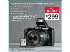 Image result for Canon Powershot Camera SX430 IS Bundle