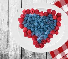 Healthy Heart Collection. Raspberries, Blueberries and LF Blueberry Greek Yogurt