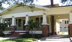 1928 Hyde Park Craftsman | Arts & Crafts Bungalow | Pinterest Craftsman Style Bungalow, Craftsman Cottage, Craftsman Exterior, Bungalow Homes, Craftsman Bungalows, Craftsman Homes, Exterior Stairs, Craftsman Columns, Craftsman Porch