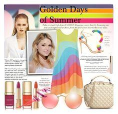 """Golden Days of Summer"" by beenabloss ❤ liked on Polyvore featuring MISCHA, Tiffany & Co., Neutrogena, Mara Hoffman, Dolce&Gabbana, Ray-Ban, Aquazzura, TheHandbagMaven and goldendaysofsummer"
