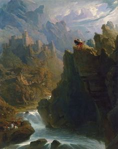 Painting of the Day! John Martin 1789-1854 - The Bard - 1817 - 127 x 102 cms | 50 x 40 ins Oil on canvas Yale Centre for British Art New Haven | United States - To see more works by this artist please visit us at: https://www.artrenewal.org/Artwork/Index/24772