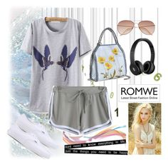 """Romwe (2) 10"" by aida-1999 ❤ liked on Polyvore featuring Vans, STELLA McCARTNEY, H&M and Beats by Dr. Dre"