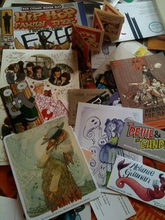 Our kitchen table after SPX 2014 Bethesda Maryland. So many beautifully talented artists and writers telling the stories they want to tell. Indie comics, illustration, small and micro press, everything you won't find at your local comic shop and don't want to miss out on! #SPX #SmallPressExpo #SPX2014 #comics #IndieComics #MicroPress #SmallPress #IndiePress #Illustration #BookArts