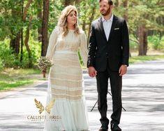 Custom Wedding Dress Ethereal Illusions by CallisteBride on Etsy