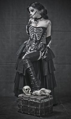 #goth #gothfashion #skeletondress