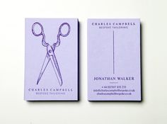 Charles Campbell hand-pressed namecards #letterpress