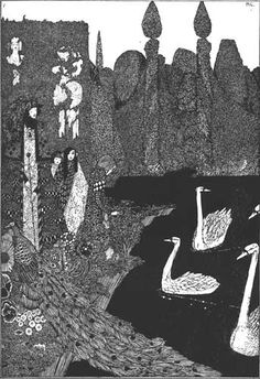 Harry Clarke (Ireland 1189-1931)-Hans Christian Andersen's Fairy Tales-The Ugly Duckling