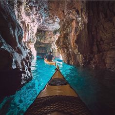 Kayaking in the caves of Istria Croatia!