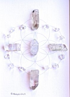 Quartz crystal grid with sacred geometry - Healing #healing #crystals