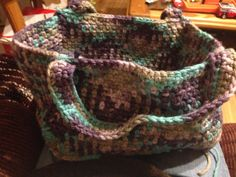 Basket single crochet. Three rectangles and two squares. All the same height.