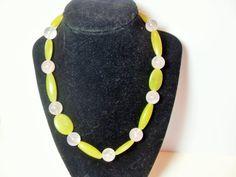 Boho Gemstone necklace serpentine jade rose by GingersLittleGems