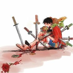 Who is gonna get killed for hurting Luffy? One Piece Comic, One Piece Ace, One Piece Fanart, One Piece Luffy, Film Manga, Anime Manga, Anime Art, Monkey D. Luffy, One Piece Series