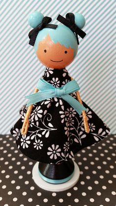 """""""Emily"""" clothespin doll. Find more like these on FB at https://www.facebook.com/the.doll.house.in.ar OR purchase on Etsy at https://www.etsy.com/shop/MountStCraftMess"""