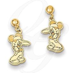 14k Disney Mickey Dangle Post Earrings