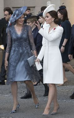 The Duchess of Cambridge and Queen Mathilde were talking animatedly as they left the Last ...