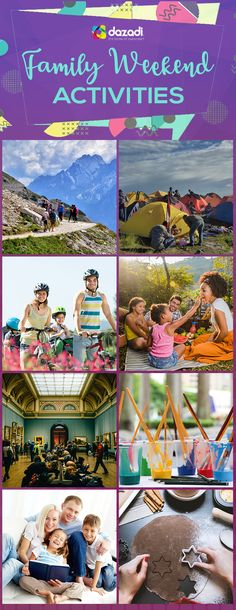 Make family time more meaningful and exciting with these fun activities:  1. Go hiking 2. Camping 3. Ride a bicycle 4. Picnic 5. Visit a museum 6. Join art classes 7. Read book 8. Baking  #family #familytime #familyweekend #familyactivities #familyfun #familybonding #activities #weekendideas #holidayideas #outdoorfun #outdooractivities