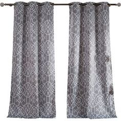 Catherine Blackout Curtain Panel in Grey (Set of 2)
