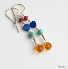 Bright Jewelry READY to SHIP Dangle Gold by WillOaksStudio on Etsy, $34.00
