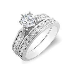 1.10 Carat (ctw) 14k White Gold Round Diamond Ladies Bridal Semi Mount... ($1,004) ❤ liked on Polyvore