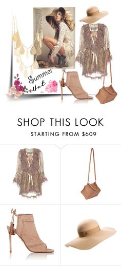 """""""Summer Hats"""" by peristyle ❤ liked on Polyvore featuring Etro, Anja, Givenchy, Aquazzura, Maison Michel, Charlotte Russe and summerhat"""