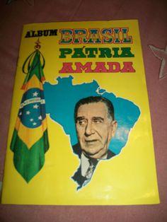 Antigo Album De Figurinhas Brasil Patria Amada (raridade)     e pensar q eu tive um...
